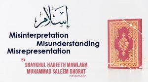 Islam.-Misinterpretation