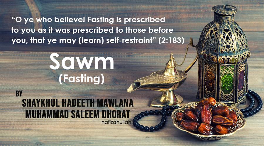 Sawm Fasting 1
